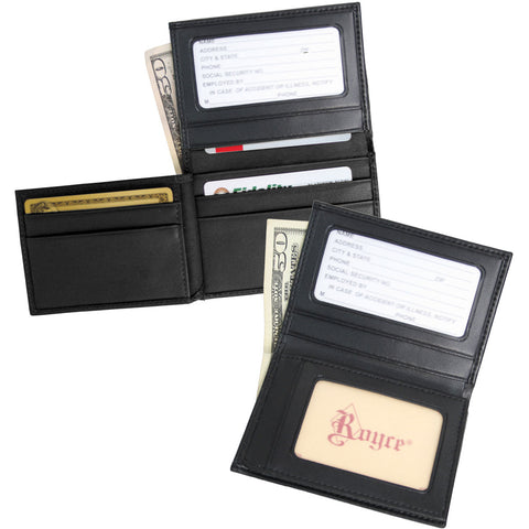 Royce Leather Double ID Credit Card Wallet