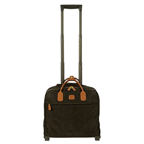 Bric's Life Tropea Ultralight International Carry-on Laptop|Tablet Pilot Case Spinner, Olive
