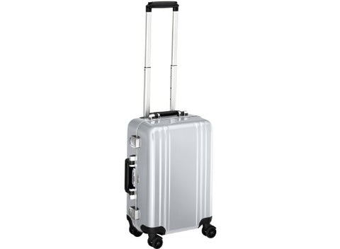 Zero Halliburton Classic Polycarbonate Carry On 4 Wheel Spinner Travel Case, Silver, One Size