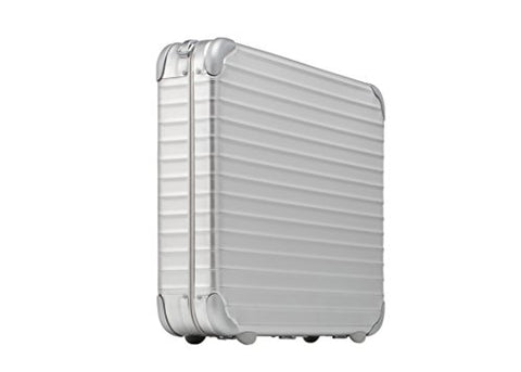 "Rimowa Topas Aluminum Attache Notebook Laptop Case 3.75"" - Silver"