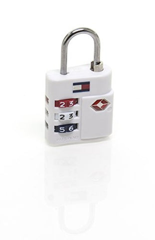 Tommy Hilfiger TSA Combination Lock, White
