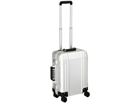 Zero Halliburton Geo Aluminum Carry On 4 Wheel Spinner Travel Case, Silver, One Size