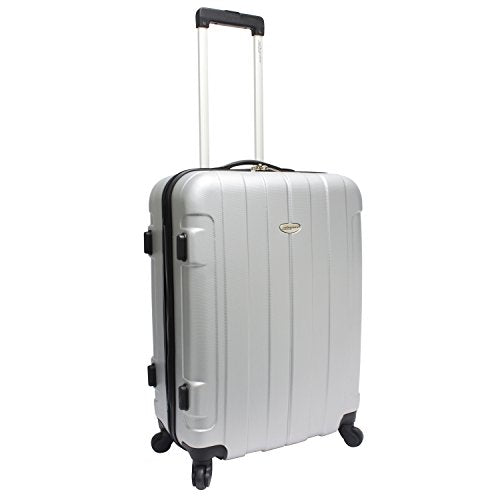 "Travelers Choice Rome 25"" Luggage, Silver"