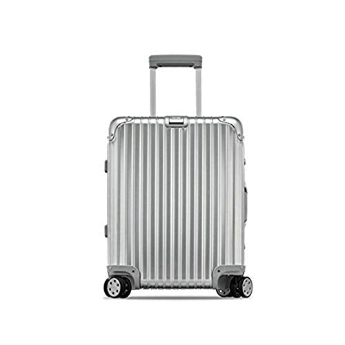 "Rimowa Topas Carry on Luggage IATA 20""Inch Cabin Multiwheel TSA Lock Spinner 32L Suitcase - Silver"