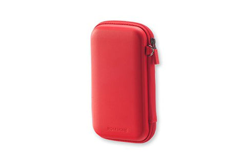 Moleskine Journey Travel Hard Pouch, Small, Scarlet Red