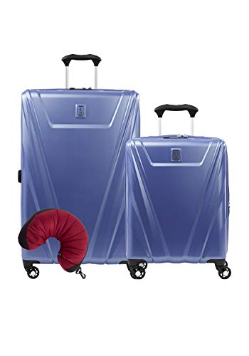 Travelpro Maxlite 5 Hardside 3-PC Set: Int'l C/O and Exp. 29-Inch Spinner with Travel Pillow (Azure Blue)