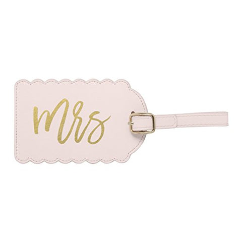 "C.R. Gibson Luggage Tag Measures 2.5"" X 4.5""-Mr & Mrs"