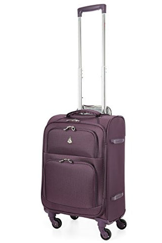 "Aerolite 22X14X9"" Carry On Max Lightweight Upright Travel Trolley Bags Luggage Suitcase, 4 Wheel"