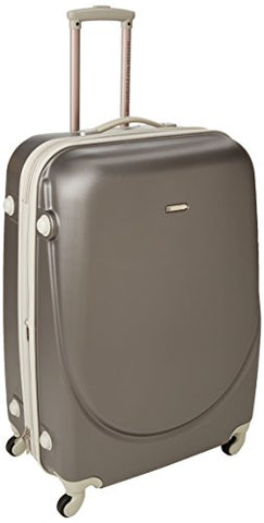 "TPRC 28"" ""Barnet Collection"" Hardside Expandable Carry-On Spinner Luggage, Silver Color Option"
