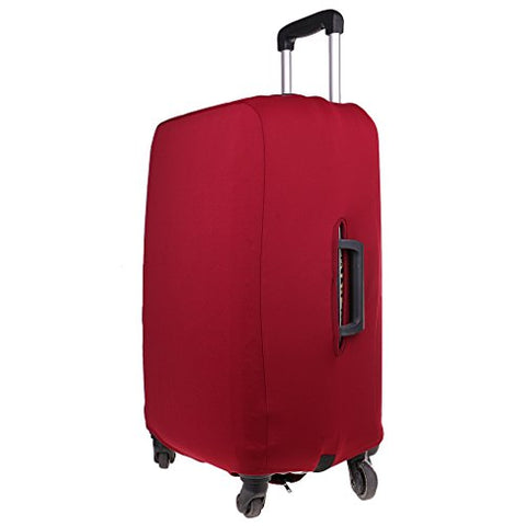 Monkeyjack 1X Travel Luggage Cover Protector Dust Proof For M 22-24'' Wine Red Suitcase