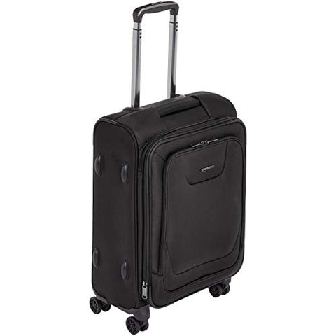 AmazonBasics Premium Expandable Softside Spinner Luggage With TSA Lock- 21 Inch, Black
