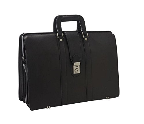 Bellino Lawyer'S Leather Laptop Case Briefcase, Black