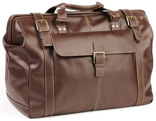 Boconi Bryant Safari Bag (Antiqued Mahogany with Houndstooth)