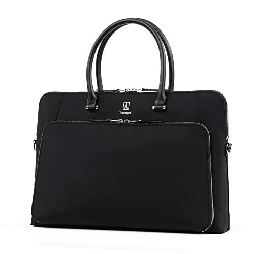 Travelpro Luggage Platinum Elite Women'S Briefcase, Black, One Size