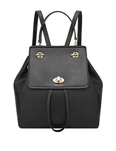 Anne Klein Chain Toggle Backpack, Black mm