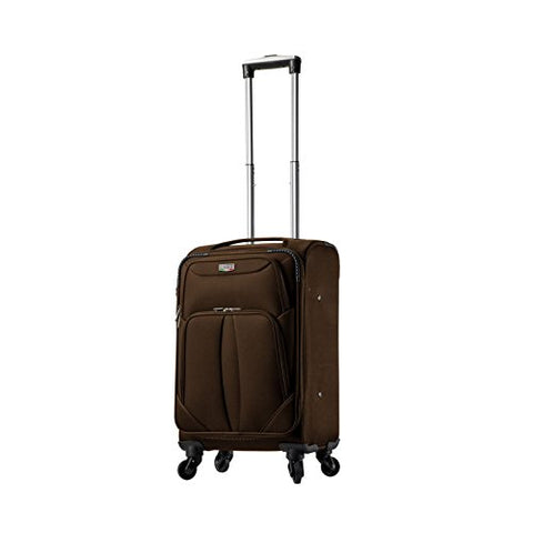 "Viaggi V1100-20In-Brw Italy Sione Softside Spinner 20"" Carry-On, Brown"