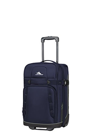 "High Sierra Evanston 21"" Softside Upright Luggage, Maritime/Black/Fossil"