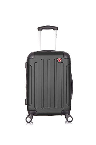 Dukap Luggage Intely Hardside Spinner 20'' Inches Carry-On With Usb Port - Black