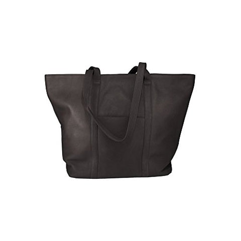 Suburban Tote (Md) Tote Bag From Latico Leathers, 100 Percent Luxury Leather, Black