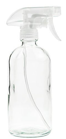 Glass Spray Bottle - Empty Refillable 16 oz Container is Great for Essential Oils, Cleaning