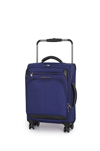 IT Luggage World's Lightest Premium 8 Wheel Spinner 31 Inch Upright (Navy Blue)