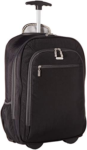 Baggallini Wheeled Laptop Backpack, black/charcoal