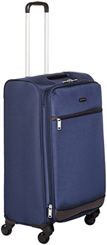 Amazonbasics Softside Spinner Luggage - 25-Inch, Navy Blue