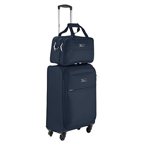 Cabin Max Copenhagen Business Hand Luggage Set - Trolley Suitcase 55x40x20cm and Stowaway Bag