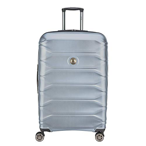 "DELSEY Paris Luggage Meteor 28"" Large Spinner Suitcase (Silver)"