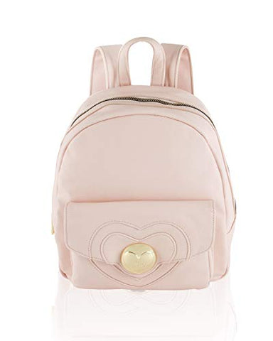 Betsey Johnson Women's Heart Lock Backpack Blush One Size