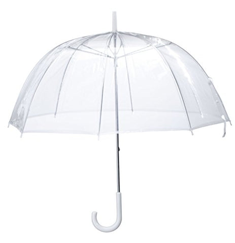Miles Kimball Clear Dome Umbrella, Durable Wind-Resistant Umbrella with Sturdy Bubble Design,