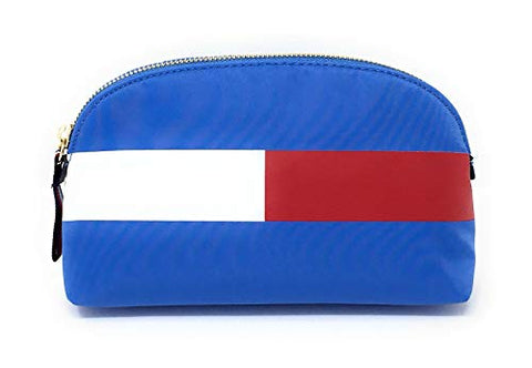 Tommy Hilfiger Large Travel Pouch Cosmetic Case (Blue)