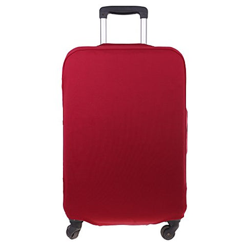 Monkeyjack Holiday Spandex Luggage Cover Suitcase Protector For S 18-21'' Case - Wine Red