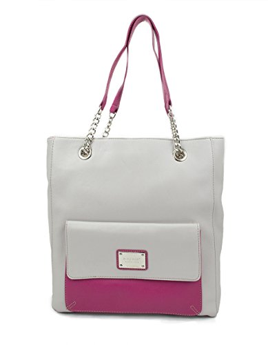 Envelope Tote Tote, Soft Touch Pvc, Color Mist Grey/Pink