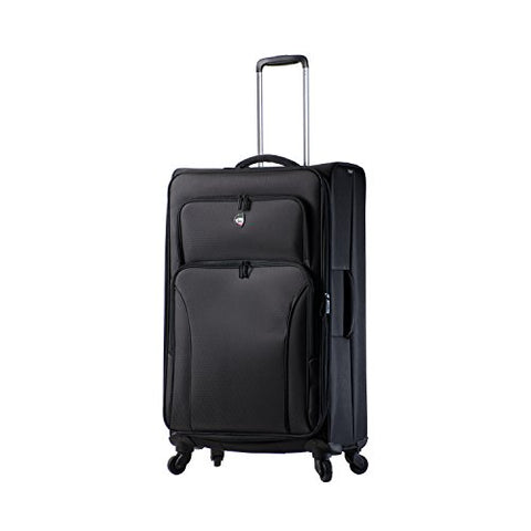 Mia Toro Italy Elio Softside 28 Inch Spinner Luggage, Black