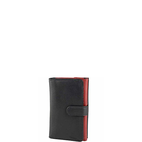 Derek Alexander Leather Ladies Trifold Wallet - Black