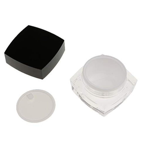 Baoblaze Acrylic Empty Cosmetic Face Refillable Container Cream Makeup Powder Jar Pot - 30g