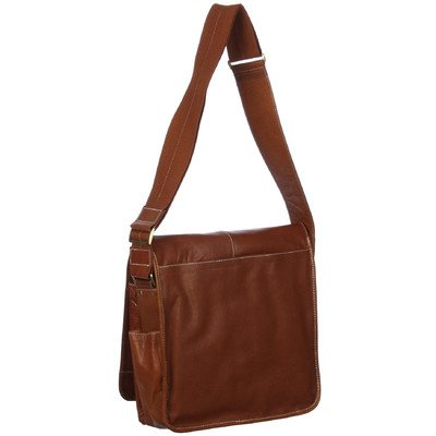 AmeriLeather Legacy Leather Teddy Messenger Bag (Brown)