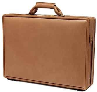 Hartmann Belting Leather Deluxe Slimline Attache Briefcase with Fan File 5800