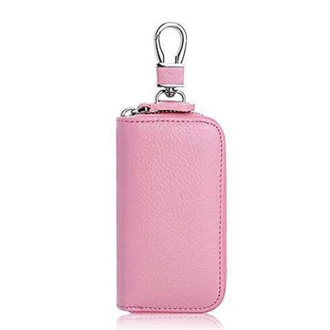 BOBILIKE Car Key Holder Wallet 6 Hoot Key Case for Women & men, Pink Small
