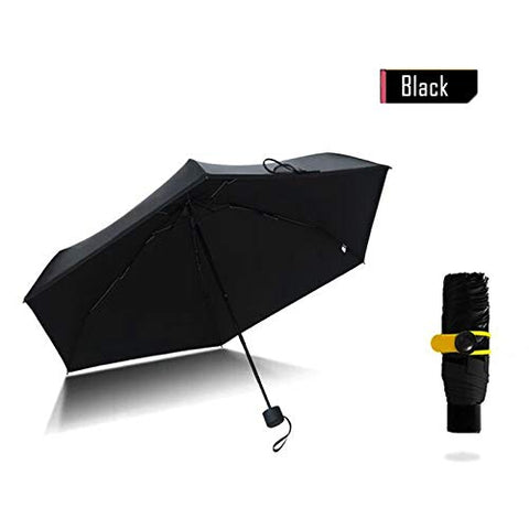 1PC Mini Umbrella Small Black Pockets Umbrellas Rain Women Folding Anti-UV Umbrella Kids Sunny