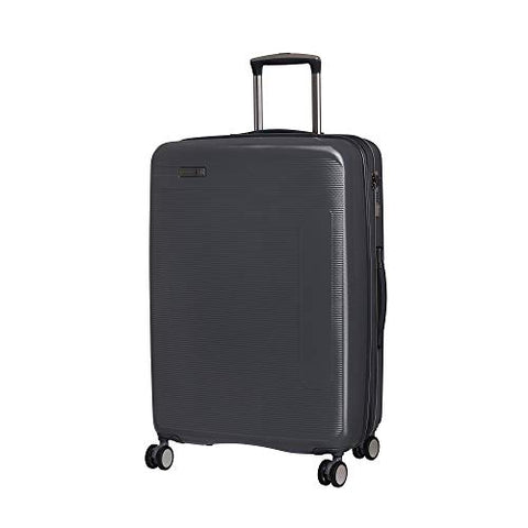 "IT Luggage 27.2"" Signature 8-Wheel Hardside Expandable Spinner, Charcoal Gray"