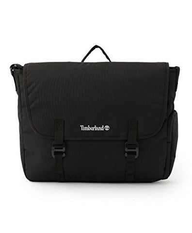 0a140c1bb8 Timberland Unisex Crofton Water-Resistant Black Messenger Bag Laptop Bag