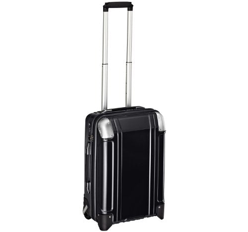 Zero Halliburton Geo Polycarbonate Carry On 2 Wheel Travel Case, Black, One Size