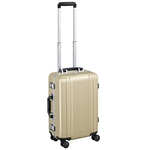 "Zero Halliburton Classic Polycarbonate 2.0-19"" Carry-On 4-Wheel Spinner, Gold"