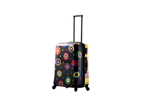 Mia Toro Pop Fiore Hardside Spinner Luggage Carry, Nero