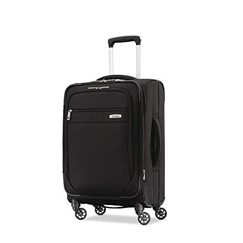 Samsonite Advena Expandable Softside Carry On Luggage With Spinner Wheels, 19 Inch, Black