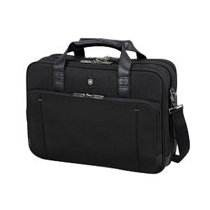 Victorinox Tourbach #153; Deluxe Briefcase w/ Security Fast Pass - Black