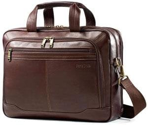 Samsonite Colombian Leather Business Case Toploader - Brown