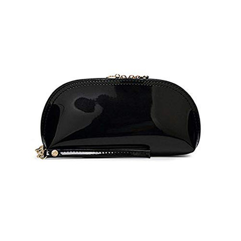 Patent Leather Casual Multifunction Purse Coin Purse Handbag Cosmetic Bag Hot (color - black)